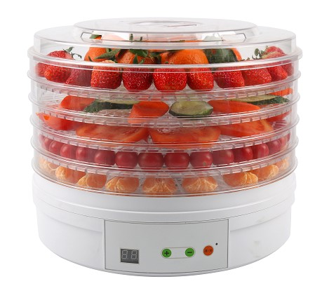 electric 5 tray food dehydrator with adjustable temperature control
