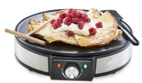 12' electric non-stick grill pancake crepe maker frying pan machine