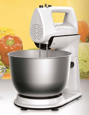 electric 2 in 1 hand and stand mixer with SS bowl