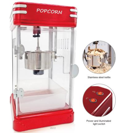 professional commercial retro kettle popcorn maker machine